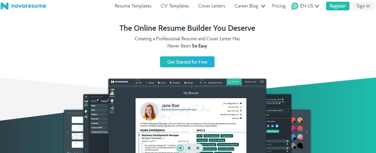 Novoresume Com Resume Writers List