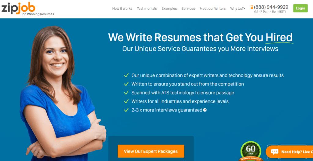 zipjob website page